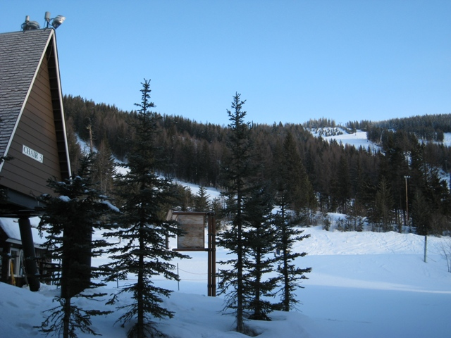 View of Chair Lift 3 from Kintla Lodge