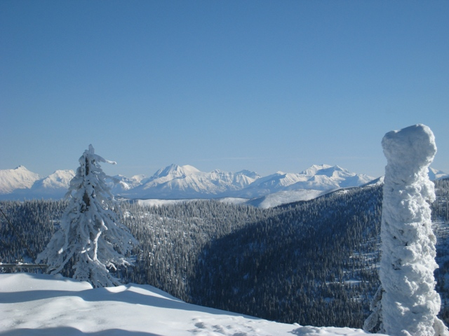 View of Glacier National Park from Whitefish Resort